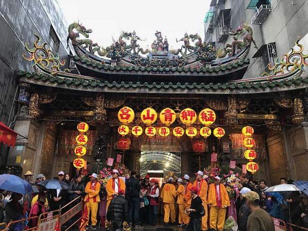 The miaohui of the Bangka Qingshan Temple (艋舺青山宮) (Teng Pei-ju/Taiwan News)
