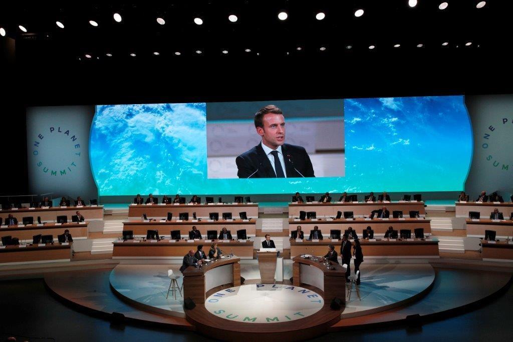 2017年One Planet Summit. (照片由美聯社提供)