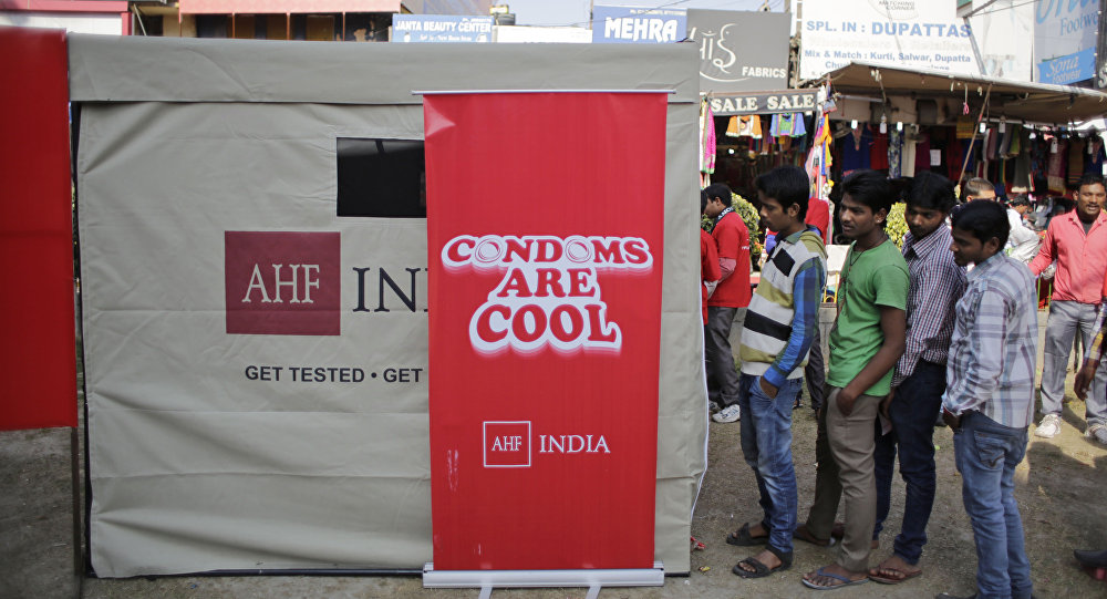 Indian campaign to promote condoms.