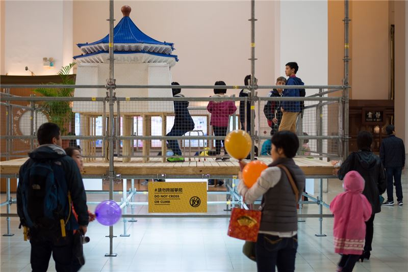 """Exhibition """"Imagining Memorial"""" at the Chiang Kai-shek Memorial Hall (Photo courtesy of the Ministry of Culture)"""