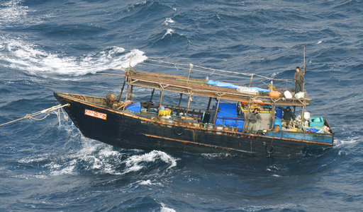 北韓木船(圖片來源:美聯社)