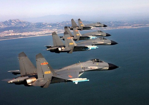 File photo. Chinese Fighter Jets, Sept. 2012