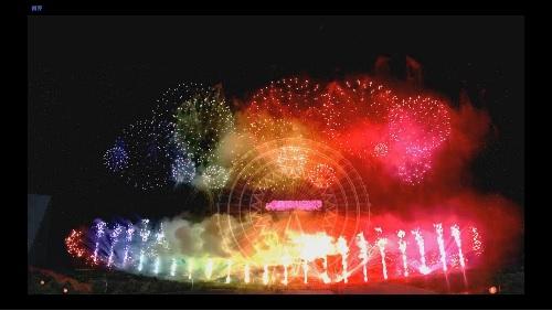 圖為雲林劍湖山煙火模擬示意圖。中央社