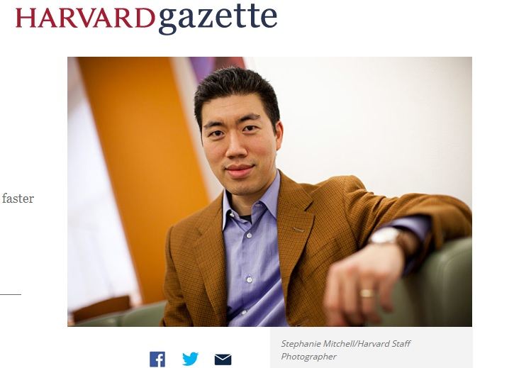 (Screenshot of Harvard.edu webpage)
