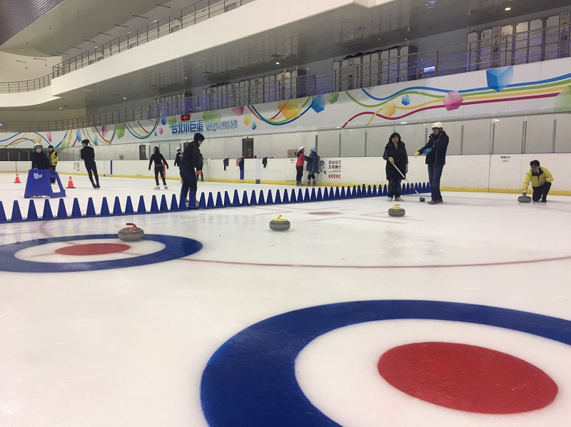 "The rarely seen Winter Olympics sport of ""curling"" is coming to Taipei Arena (photo courtesy of TRTC)"
