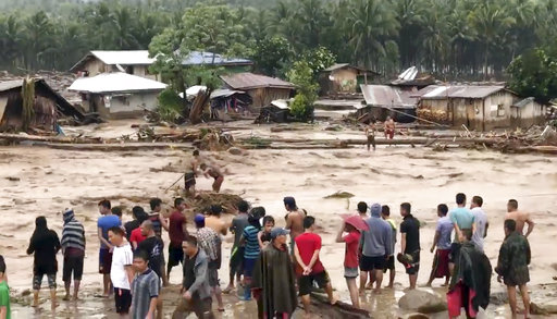 Raging flood waters in Lanao del Norte, Zamboanga Pennisula.