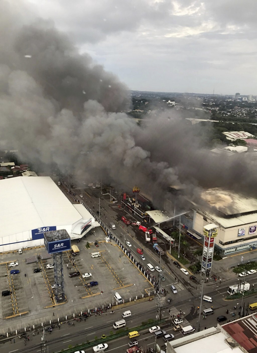 Fire erupts in Philippine shopping mall; 37 people are feared dead