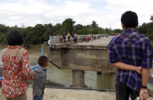 圖為民答那峨的南拉瑙省災情。美聯社