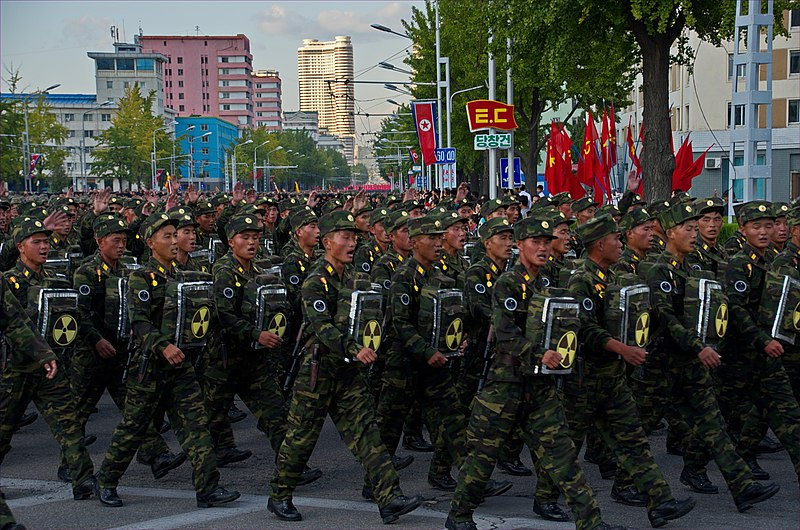 North Korean soldiers march in Pyongyang. File Photo. 2015