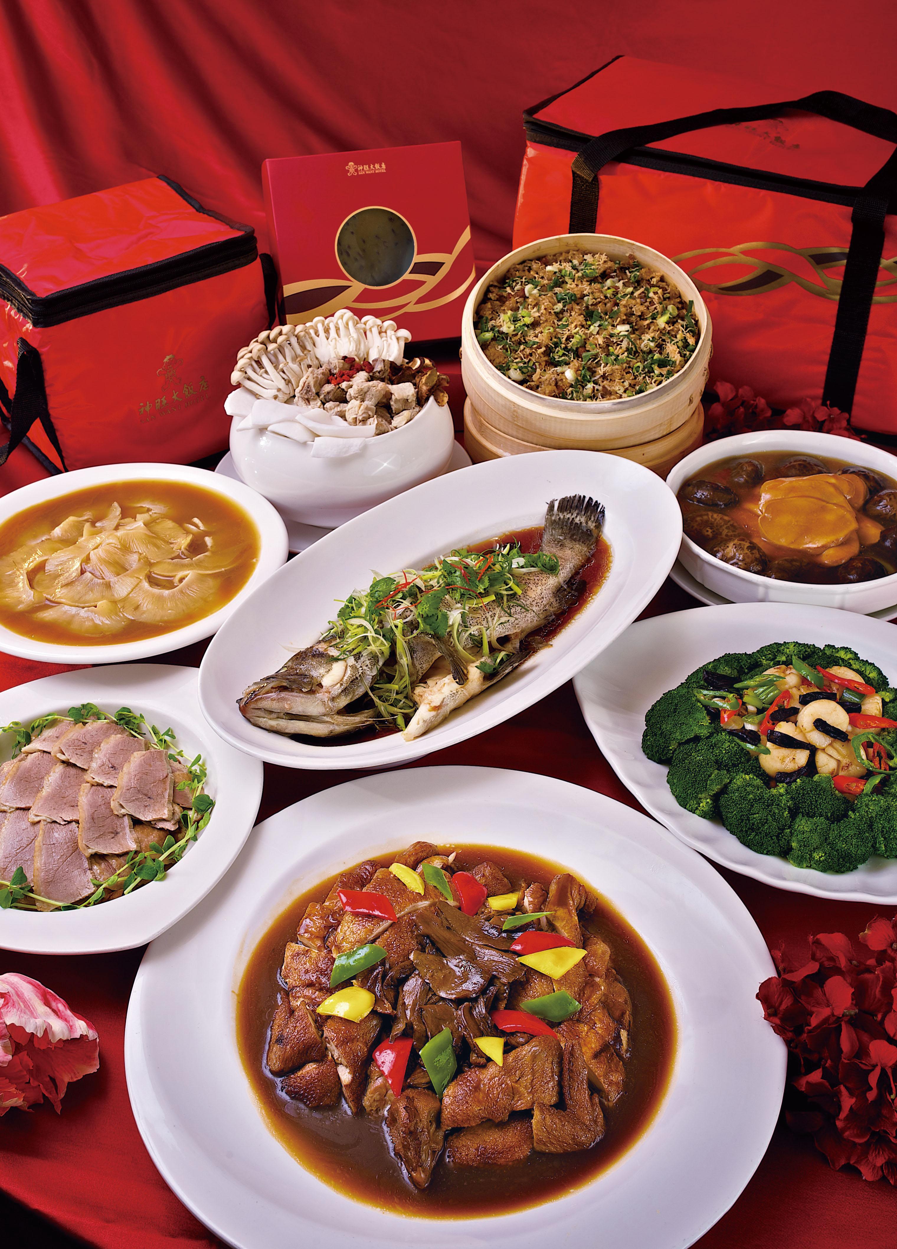 神旺大飯店伯品廊,首度推出當日鮮做外帶年菜組,早鳥享88折