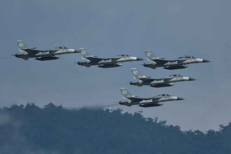 Taiwan Air Force Fighter Jets (Image from  Air Force Command FB page)