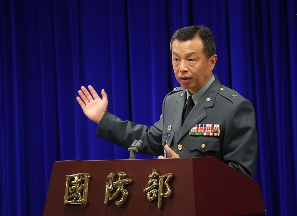 Chen Chung-chi (陳中吉), spokesperson for the Ministry of National Defense