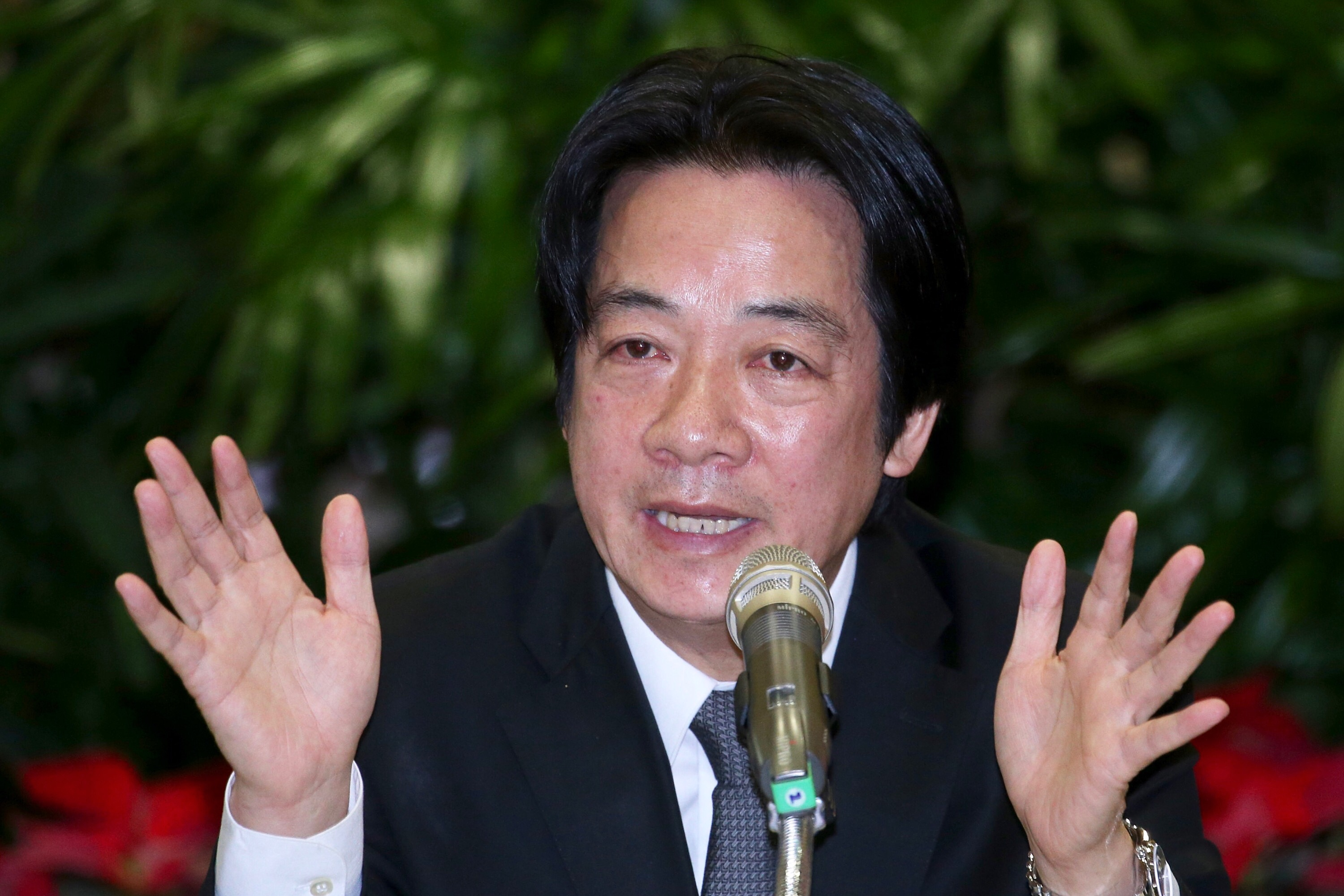 Premier William Lai at Wednesday's year-end news conference.