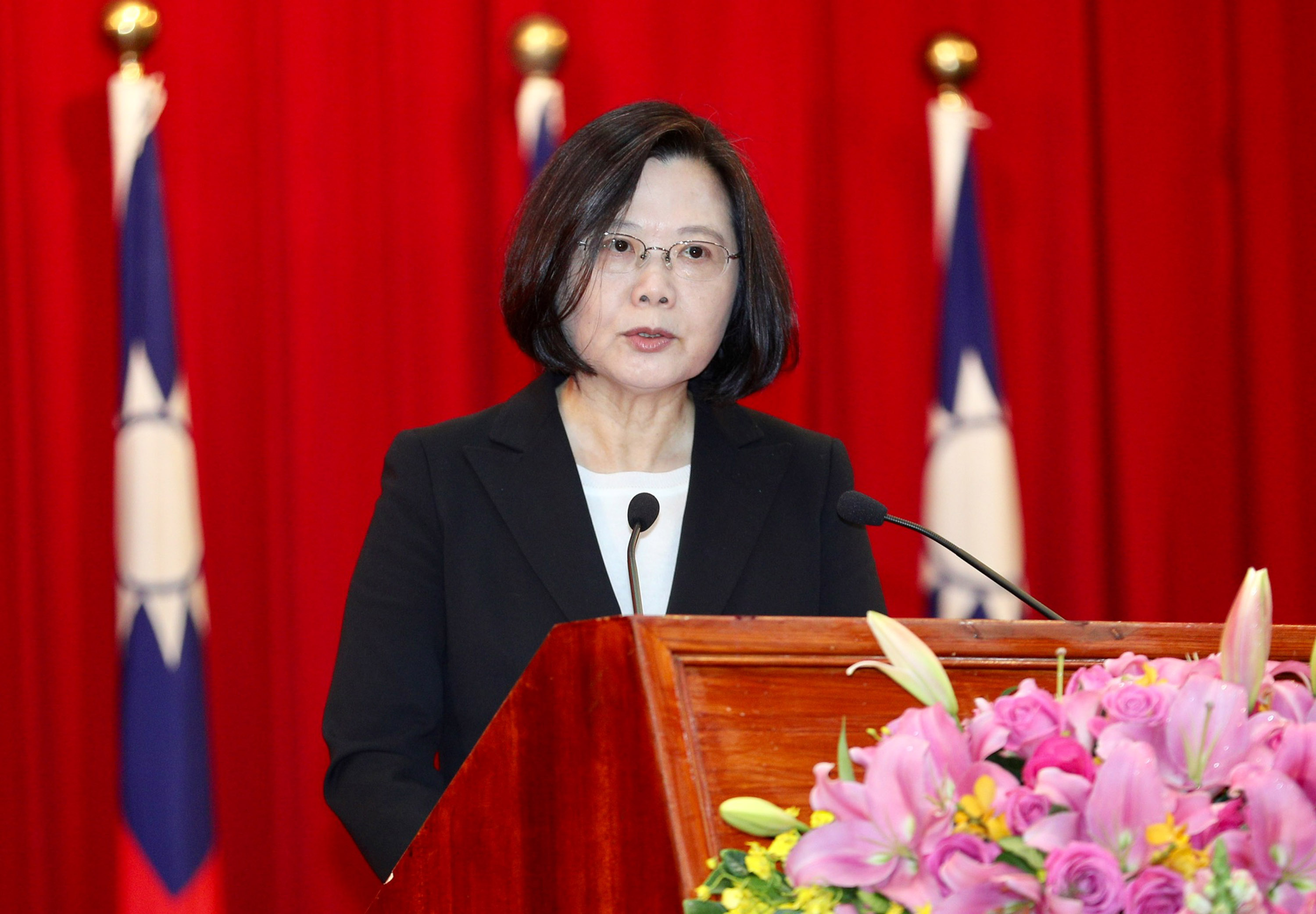 President Tsai addresses generals Thursday morning.
