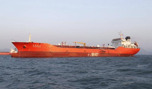 圖為遭查緝的香港船隻Lighthouse Winmore號。美聯社