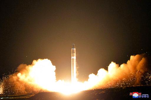 北韓飛彈示意圖(圖片來源:美聯社)