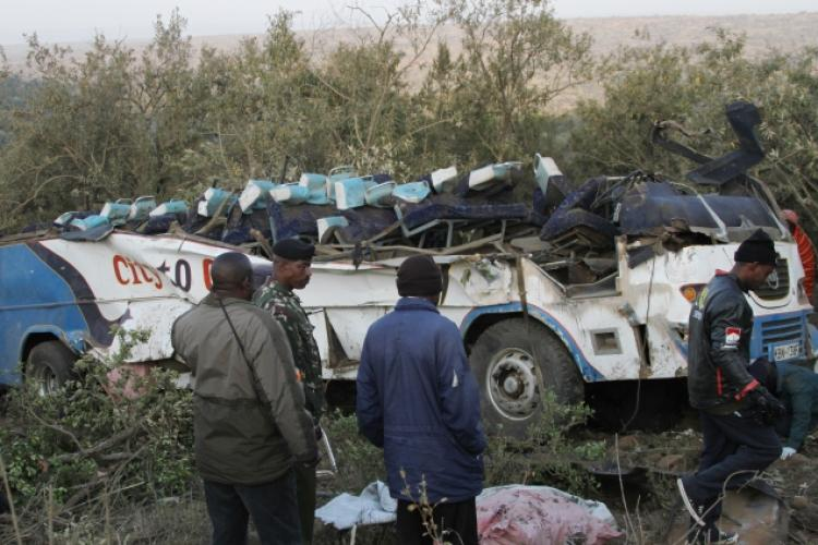 Dozens are reported dead Sunday after a bus crash in Kenya.