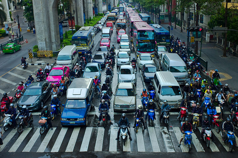Photo of traffic in Bangkok