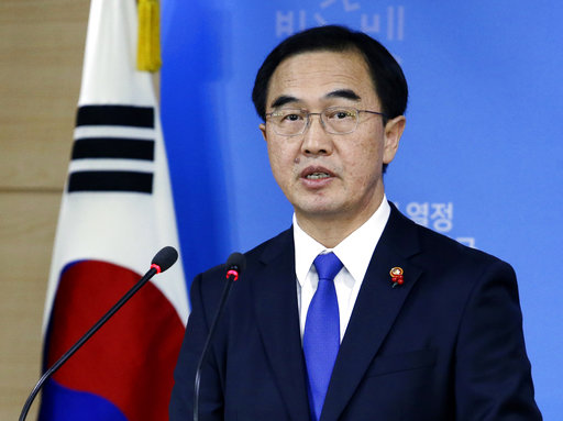 South Korean Unification Minister Cho Myoung-gyon