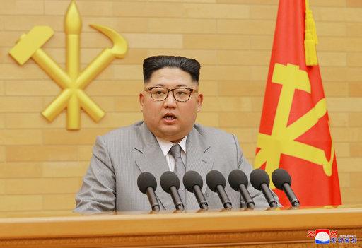 北韓領袖金正恩發表2018新年演説(圖片來源:美聯社)