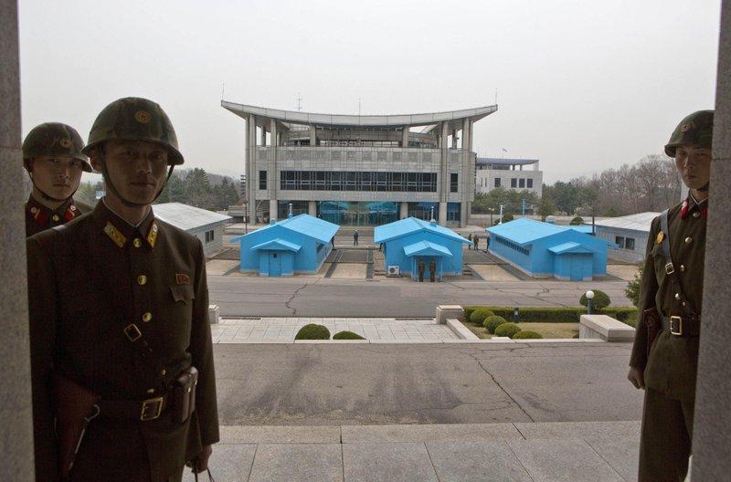 North Korean military at Panmunjom.