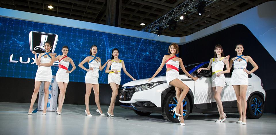 Taiwanese luxury automaker Luxgen shows off new models at Taipei Intl. Auto Show