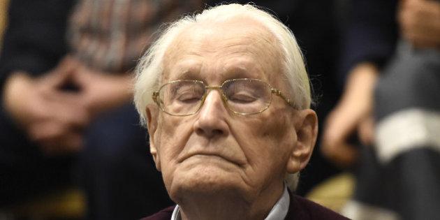 高齡94歲的前納粹黨衛隊軍官葛羅寧(Oskar Groening)圖片來源:美聯社