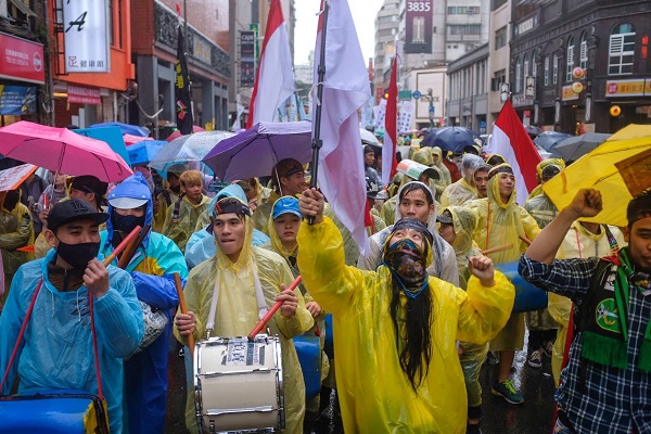 Migrant workers rallied to call for better workers' rights on January 7 (Photo courtesy of Andy Ip Gia Thien)
