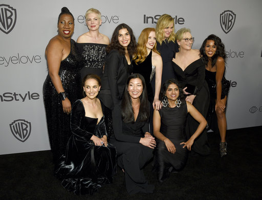 Stars were accompanied by social activists at this year's Golden Globes.