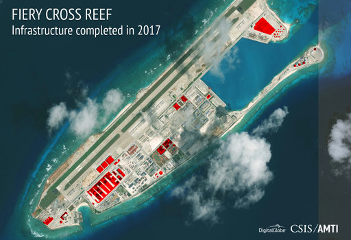 Philippines protests China's militarization of Fiery Cross Reef in South China Sea
