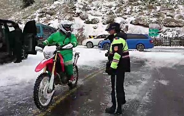Postman Yu Ju-fang ready to deliver mail in Hehuanshan