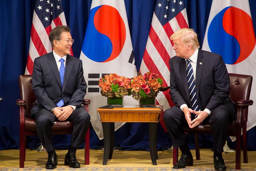 本次川文通話,雙方也同意持續加強美國與南韓的合作關係。 (翻攝 Flickr)