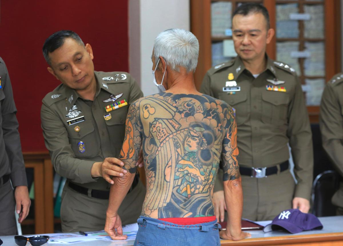 Yakuza boss arrested in Thailand after tattoos go viral