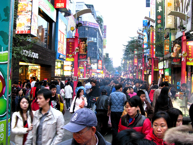 Ximen area in Taipei (Image from Flickr user Dago Pacheco)
