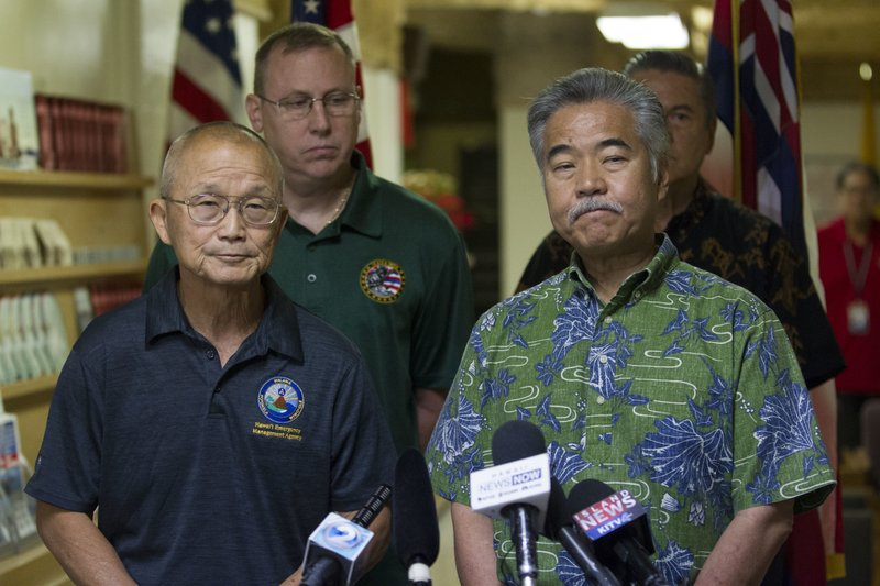 Hawaii officials apologized repeatedly and said the alert was sent when someone hit the wrong button during a shift change.