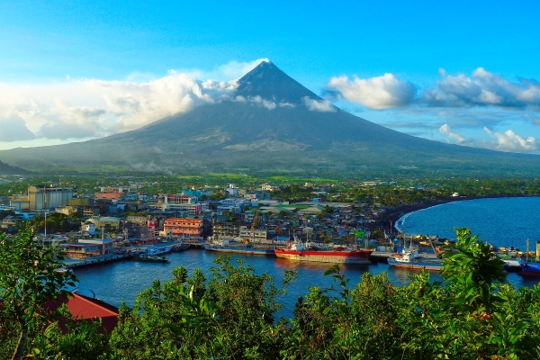 Stock image of Mount Mayon