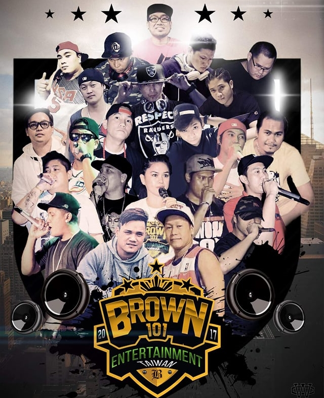 Poster for rap crew Brown 101. (Image by Allan Viray)