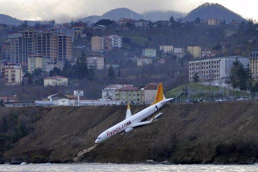 出事飛機(圖片來源:美聯社)