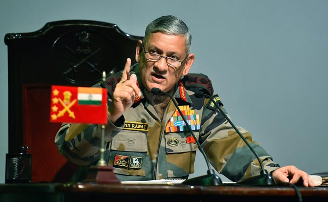 Chinese troops still present at Doklam: Army chief Bipin Rawat