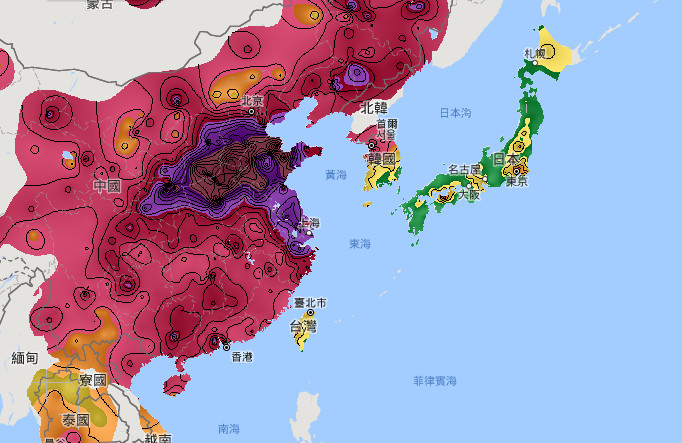 Taiwan China Map.China Is Single Largest Source Of Pm2 5 Pollu Taiwan News