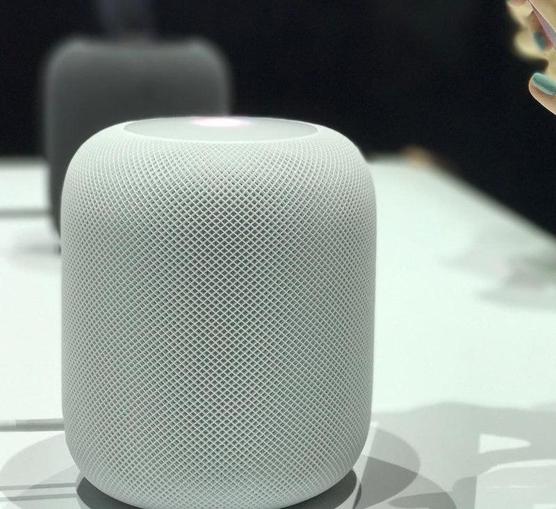 HomePod smart speaker.