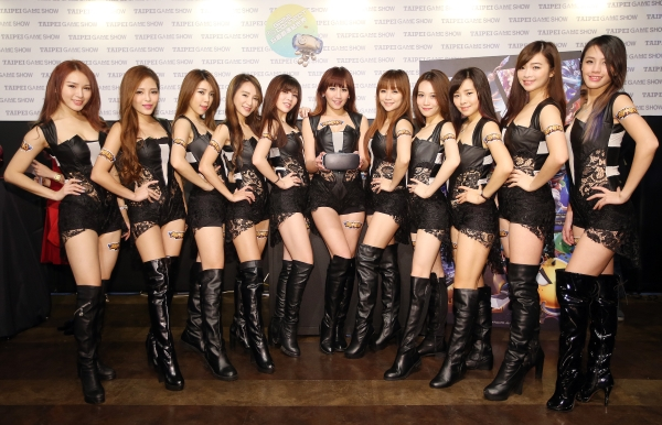 Models at Taipei Game Show.