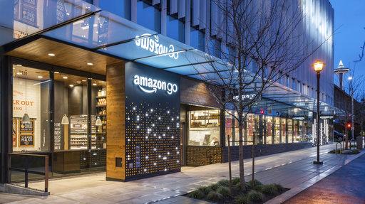 Amazon開的無收銀機超市Amazon Go(圖片來源:美聯社)