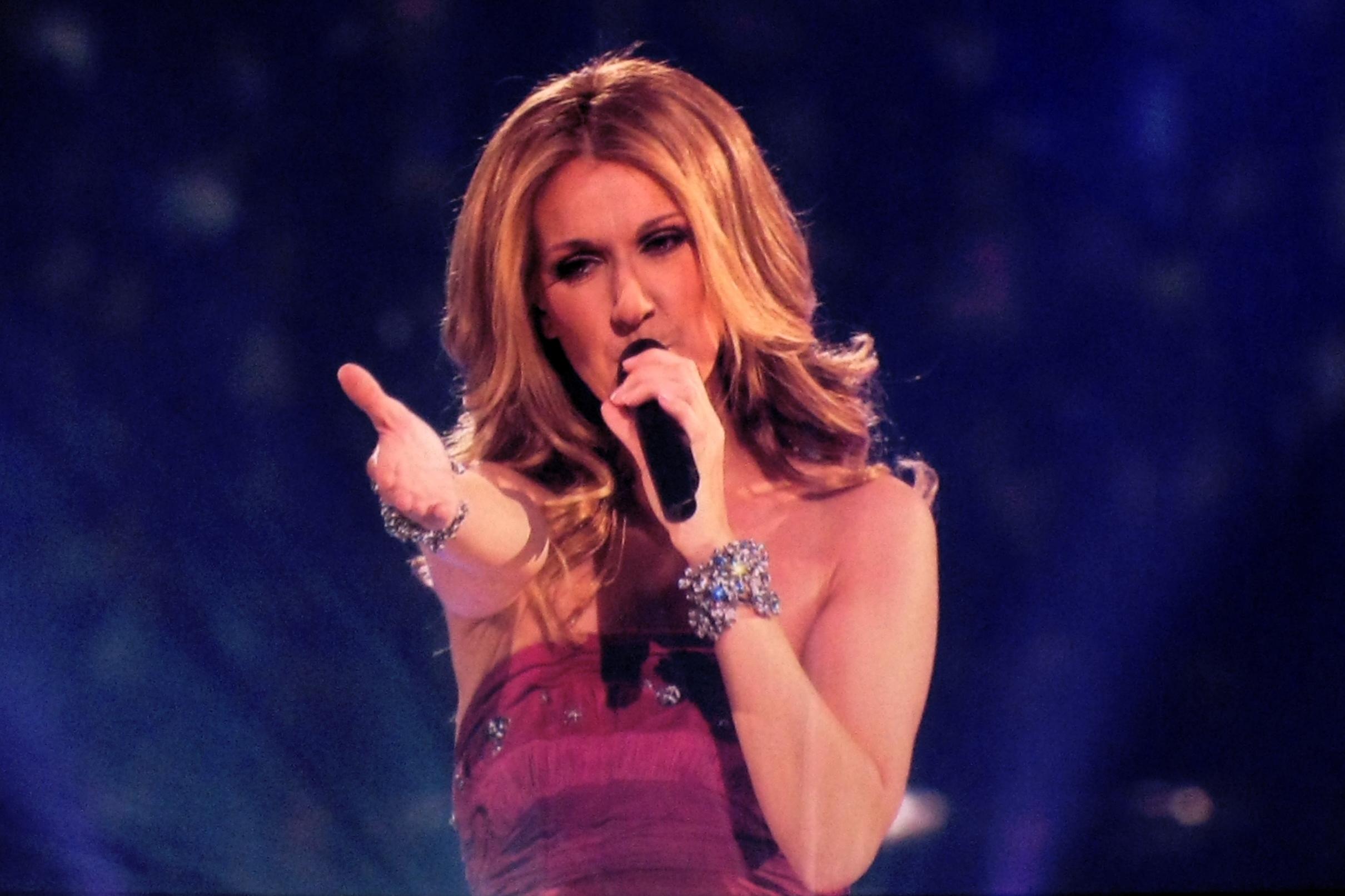 Celine Dion in concert.