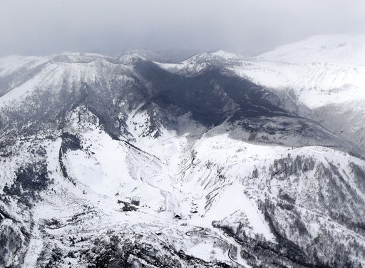 「草津白根山」(圖片來源:美聯社)