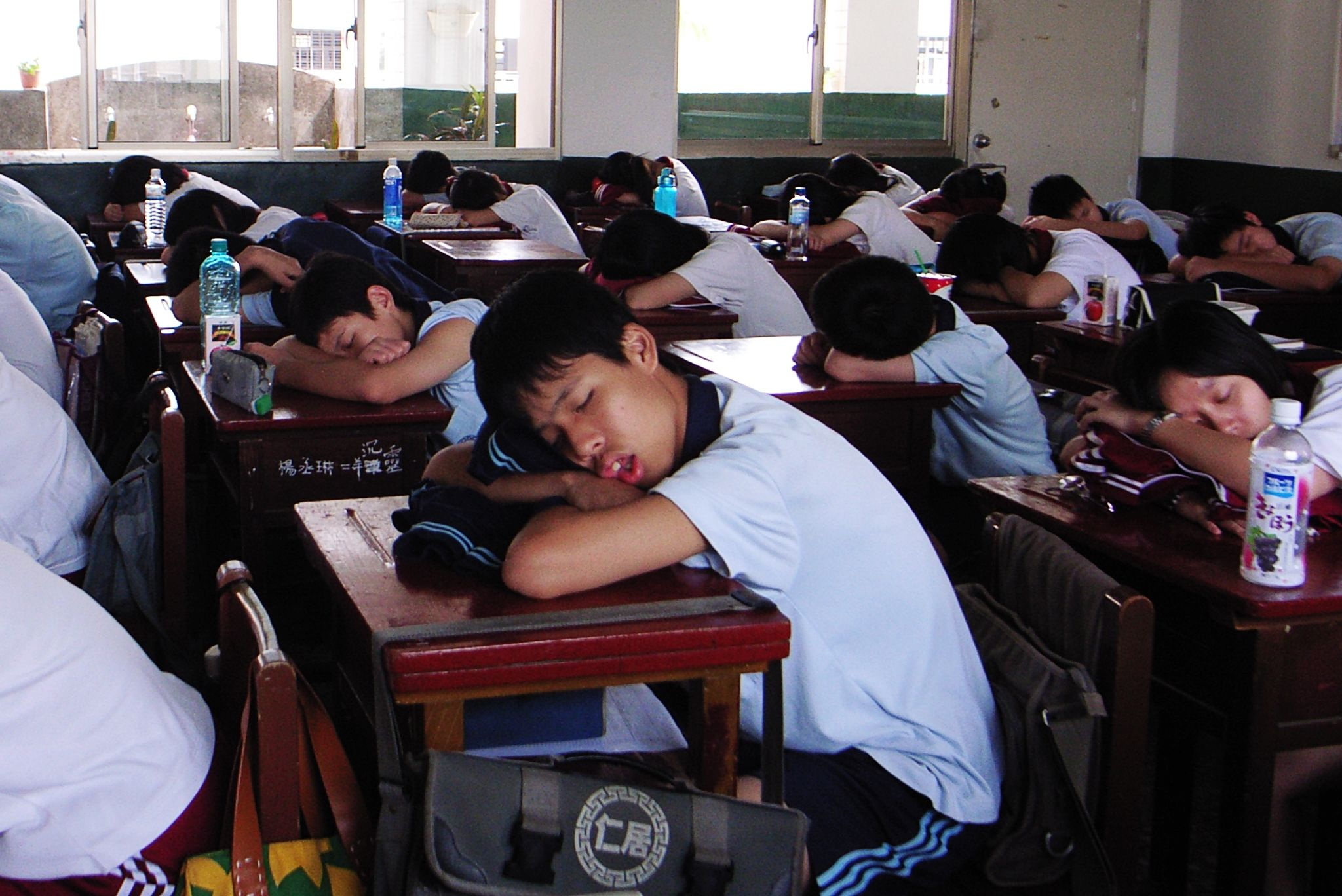 Taiwanese students napping.