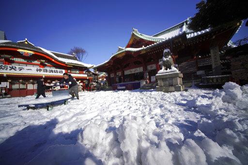 日本東京大雪(圖片來源:美聯社)