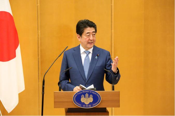 日本首相安倍晉三(圖片來源:截取自首相官邸網站)