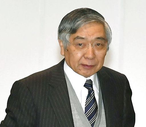 日本央行總裁黑田東彥(圖片來源:美聯社)