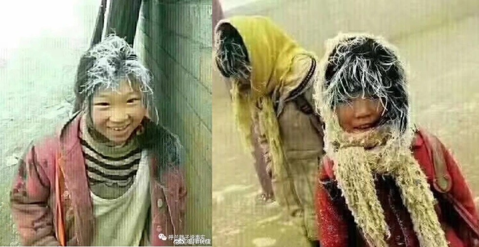 """China's """"Frost Girls"""" receive chilly response. (Weibo images)"""